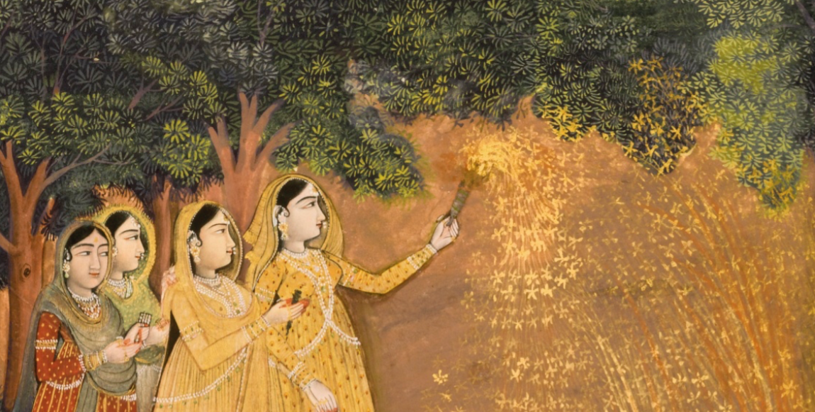 women diwali fireworks